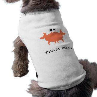 チームカニの小犬のTシャツ ペット服