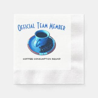 チームコーヒー|公式の飲む分隊 縁ありカクテルナプキン