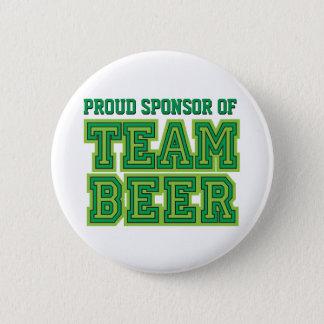 チームビールおもしろいなボタンの誇り高いスポンサー 5.7CM 丸型バッジ