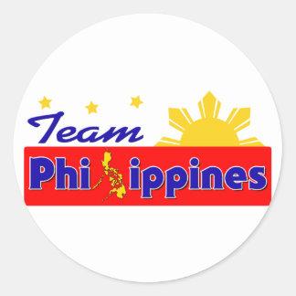 チームフィリピン 丸型シール