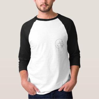 チームプロザックの白くか黒い古い学校の半分の腕 Tシャツ
