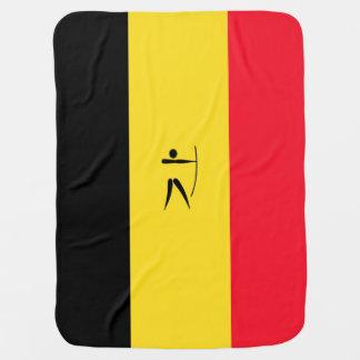 チームベルギーのアーチェリー ベビー ブランケット