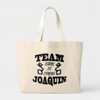 チームホアキンのステーキはジャンボトートを来ています ラージトートバッグ