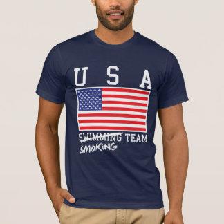 チームワイシャツを煙らす米国 Tシャツ