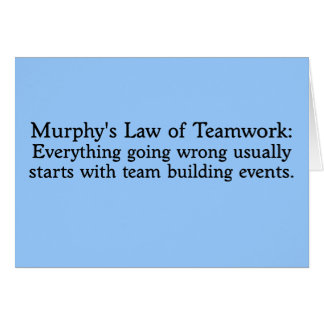 チームワークのためのマーフィーの法律 カード