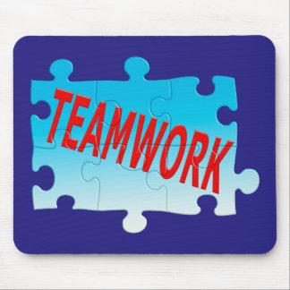 チームワークのジグソーパズルのマウスパッド マウスパッド