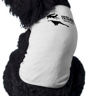 チームワークのボーダーコリーディスク犬犬のTシャツ ペット服