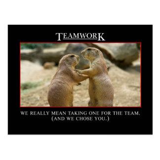 チームワークの実質の意味 ポストカード