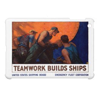 チームワークの造りの船 iPad MINIケース