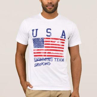 チーム動揺してなワイシャツを煙らす米国 Tシャツ
