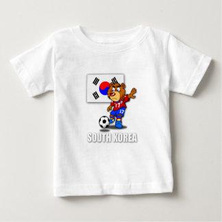 チーム南朝鮮のフットボールの乳児のTシャツ ベビーTシャツ