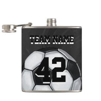 チーム名前および数サッカーボール フラスク