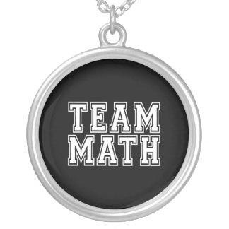 チーム数学 シルバープレートネックレス