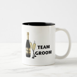 チーム新郎(シャンペン) ツートーンマグカップ