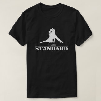 チーム標準的な社交ダンスのシルエット Tシャツ