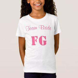 チーム花嫁のフラワー・ガールのジャージーのティー Tシャツ