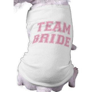 チーム花嫁犬のTシャツ ペット服