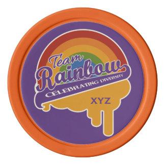 チーム虹のポーカー用のチップ ポーカーチップ