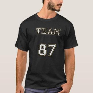 チーム87黒いライン Tシャツ