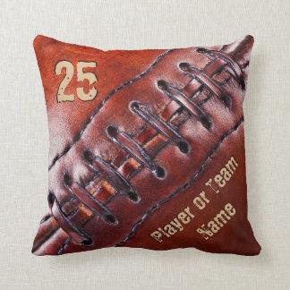 チーム、プレーヤーの名前および数フットボールの枕 クッション