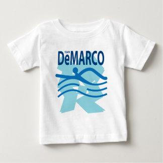 チームDeMarcoの白のTシャツ ベビーTシャツ