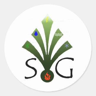 チームGreen/eプロダクトのショーンの緑 ラウンドシール