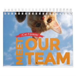 チームICatは永久にカレンダーに記録します カレンダー