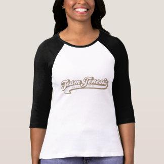 チームJenesis -タンまたはチョコレート; 袖3/4の Tシャツ
