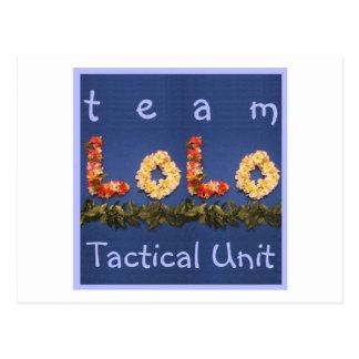 チームLoloの戦術的な単位 ポストカード