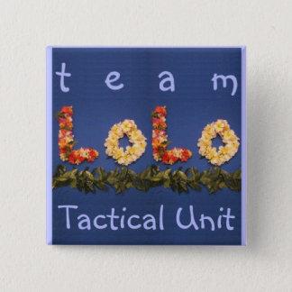チームloloの戦術的な単位 5.1cm 正方形バッジ