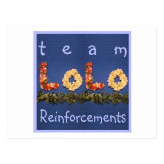 チームLoloの補強 ポストカード