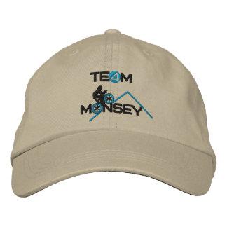 チームMonseyの野球帽 刺繍入りキャップ