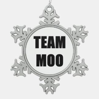 チームMOOのオーナメント スノーフレークピューターオーナメント