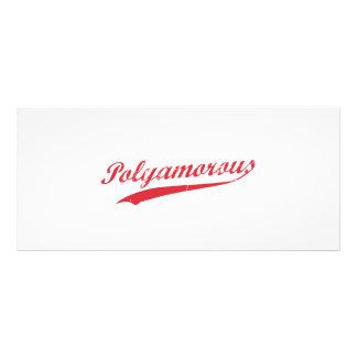 チームPolyamory Polyamorousおよび誇りを持った ラックカードテンプレート