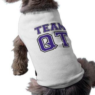 チームQTの小犬のティー(紫色) ペット服
