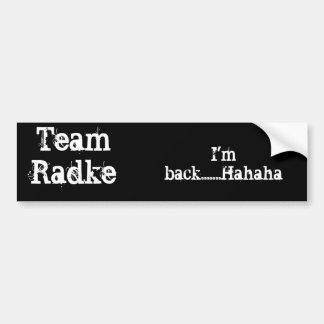 チームRadkeのバンパーステッカー バンパーステッカー