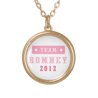 チームRomney 2012のペンダントのネックレス ゴールドプレートネックレス