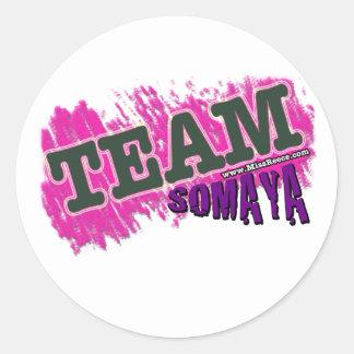 チームSOMAYA -紫色 ラウンドシール
