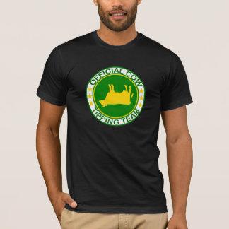 チームTシャツをひっくり返している公式牛 Tシャツ
