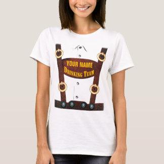 チームTシャツを飲むハーフパンツ Tシャツ