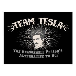 チームTeslaの空電の毛 ポストカード
