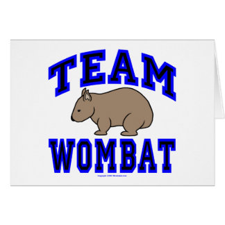 チームWombat IVの挨拶状 カード