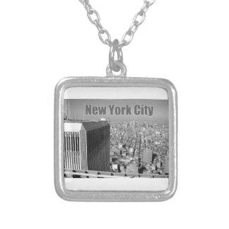 ツインタワーの世界貿易センターNYC シルバープレートネックレス
