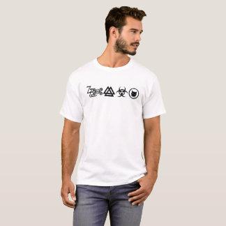ツェッペリン型飛行船の記号のパロディ Tシャツ