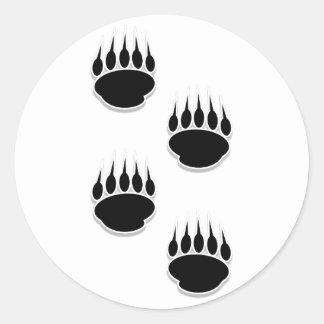ツキノワグマの足のプリント ラウンドシール