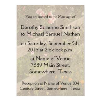 ツツジによっては花の国の庭園の結婚式が開花します カード