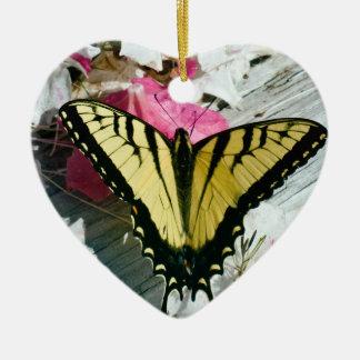 ツツジのトラのアゲハチョウの蝶 セラミックオーナメント