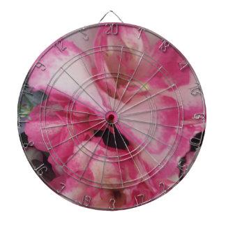 ツツジのピンクの花のダート盤 ダーツボード
