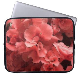 ツツジのピンクの花びらのネオプレンのラップトップスリーブ ラップトップスリーブ