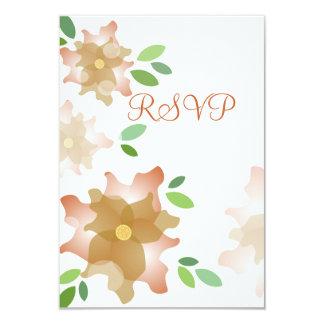 ツツジのブラウン様式化されたRSVPカード カード